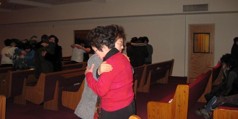 알라스카 연합 성경기도세미나 후에 짝기도<br> 알라스카 연합 성경기도세미나 후에 짝기도