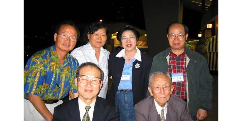 2003 - 하와이 선교대회<br> 하와이 선교 대회에서 방지일 목사님과 함께 (2003. 2. 3.)